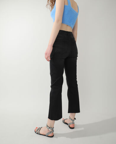 Jeans flare high waist nero