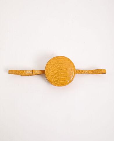 Pochette rotonda con cintura giallo