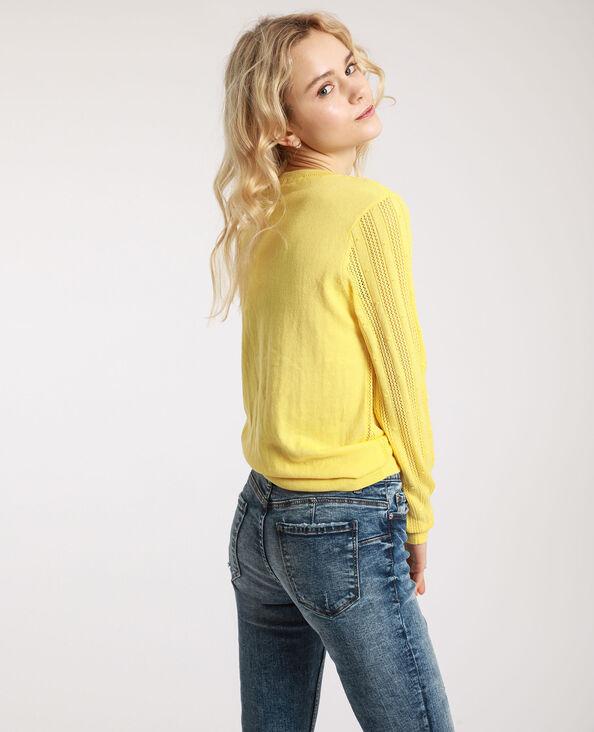 Pull maglia fantasia giallo