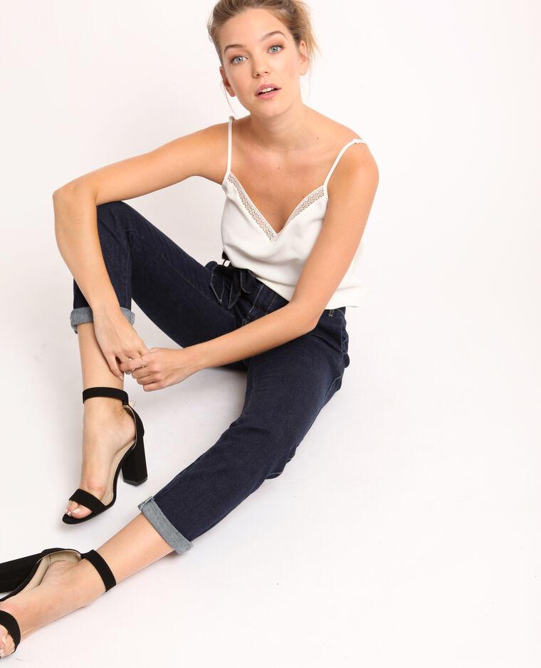 Jeans largo blu scuro