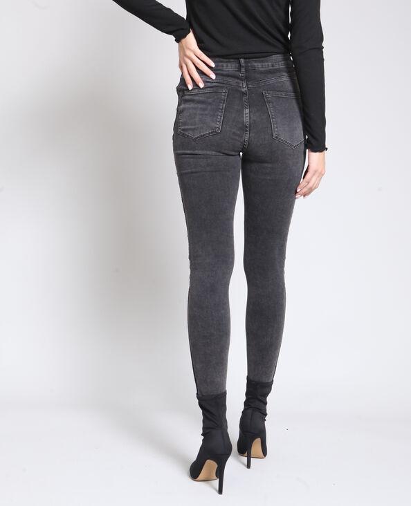 Jeans skinny délavé grigio