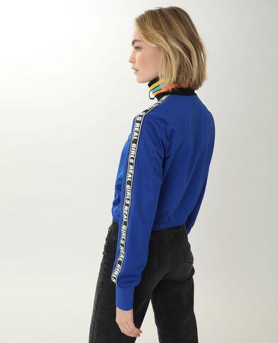 Giacca con zip blu elettrico