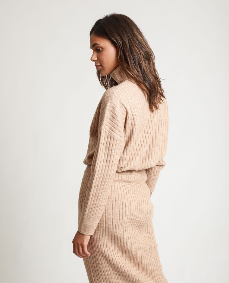 Pull a coste beige corda