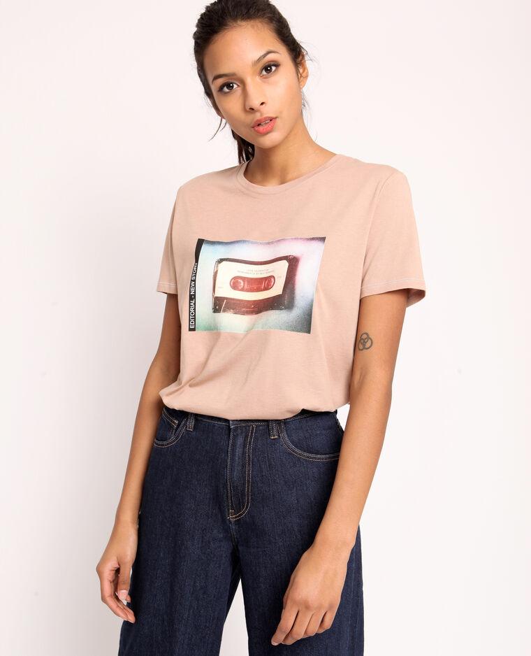 T-shirt stampata marrone