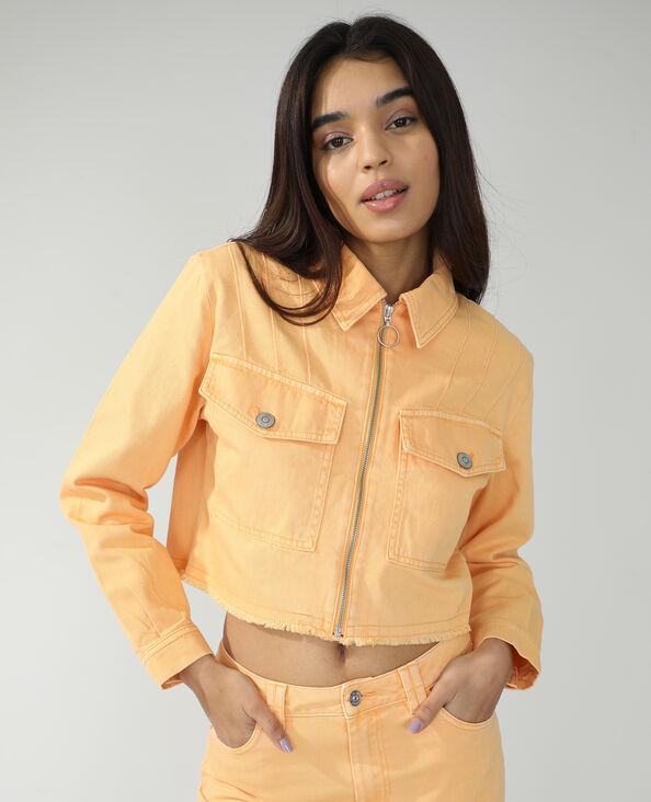 Giacca di jeans arancio - Pimkie