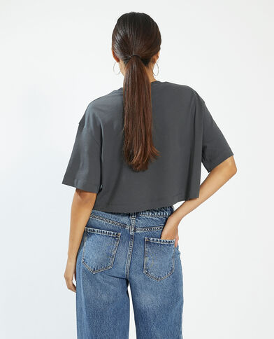 T-shirt cropped grigio - Pimkie