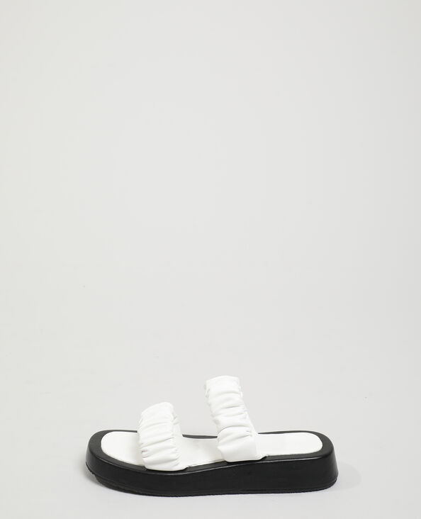 Sabot plissettati bianco - Pimkie
