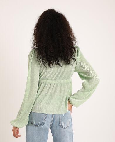 Blusa plissettata verde