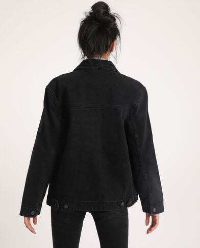 Giacca di jeans in tessuto riciclato nero