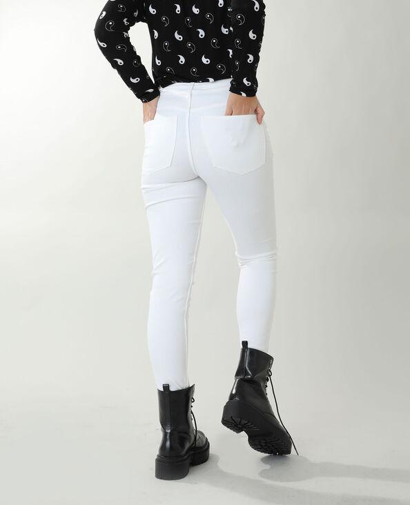 Jeans skinny high waist bianco