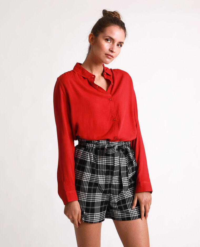Camicia morbida rosso