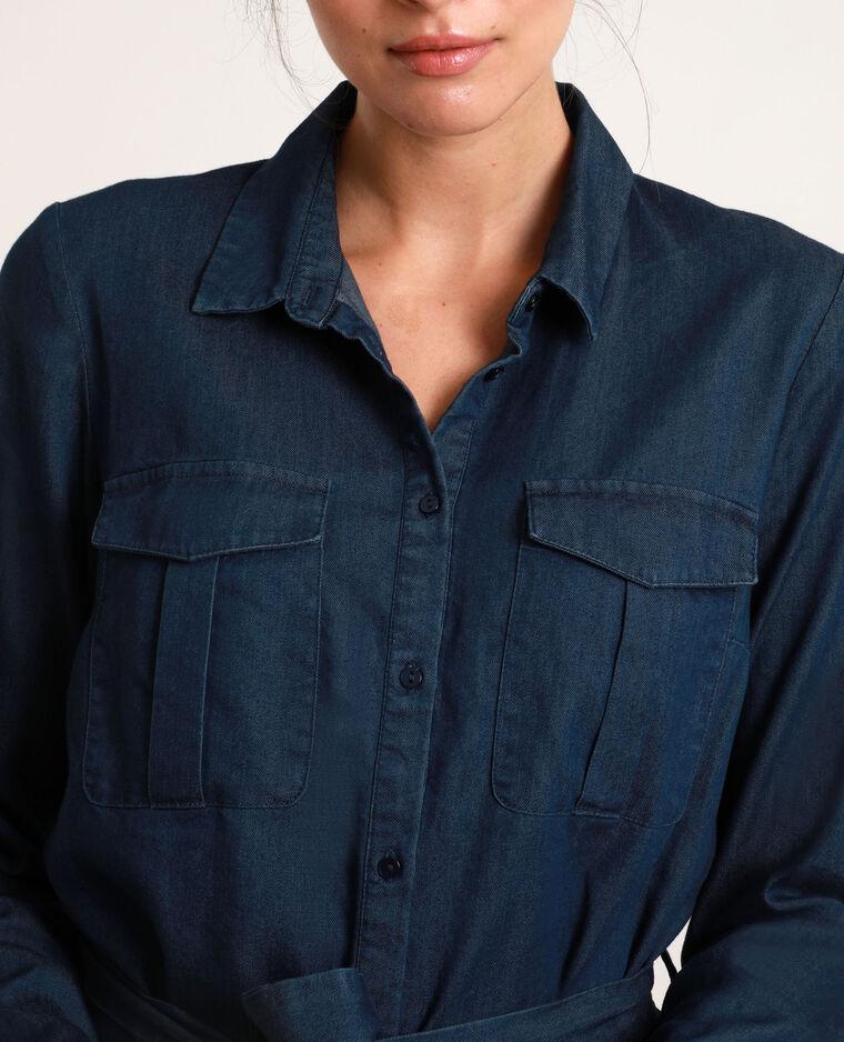 Abito camicia in jeans blu