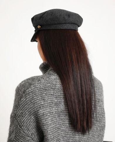 Cappellino blu marino grigio