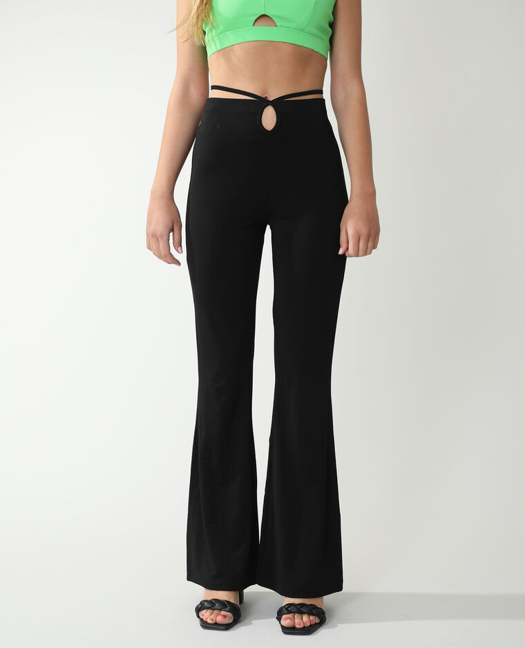 Pantalone flare nero - Pimkie