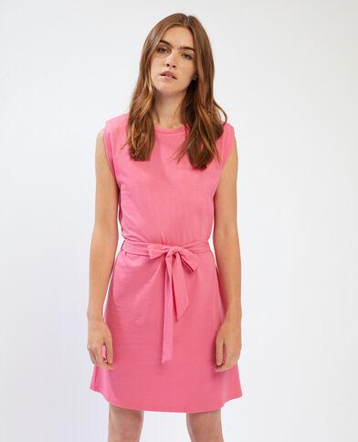 Abito t-shirt con spalline rosa - Pimkie