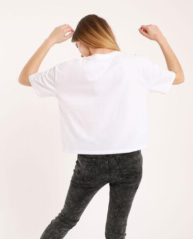 T-shirt cropped bianco