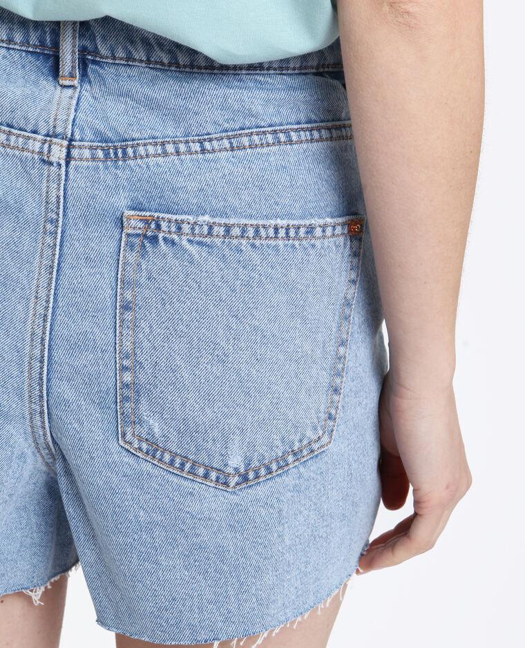 Short in jeans high waist blu delavato