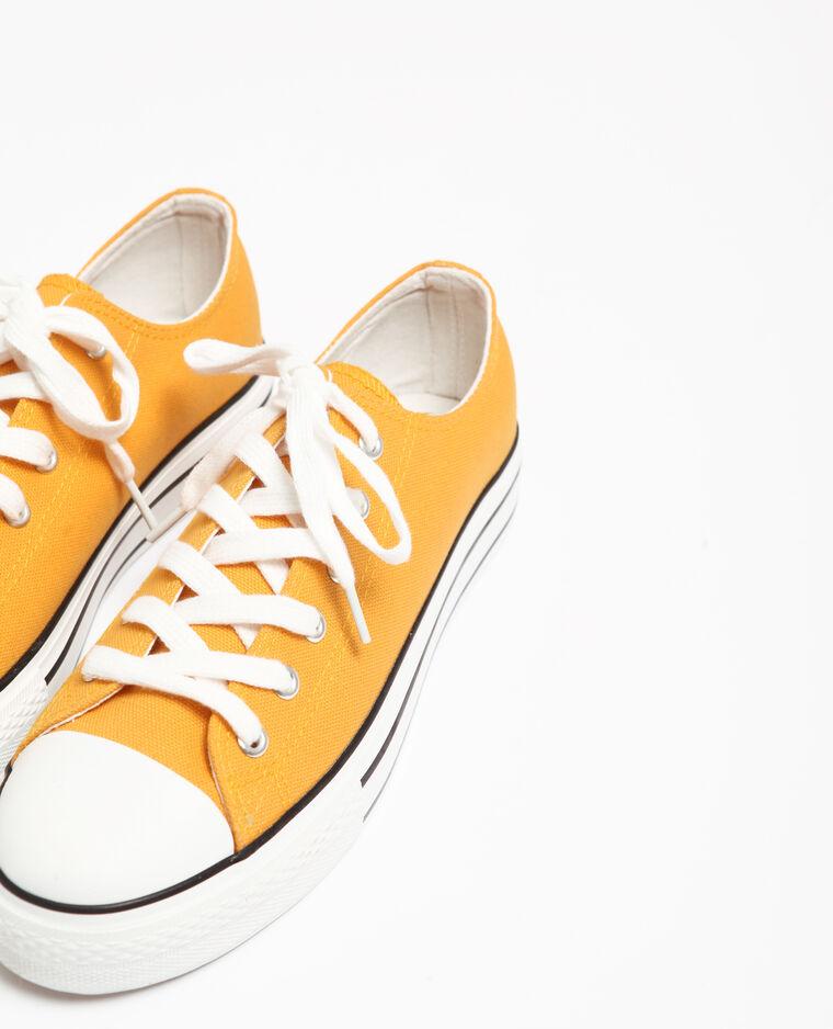 Scarpe sportive in tela giallo