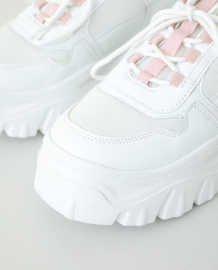 Scarpe da tennis dad shoes bianco sporco