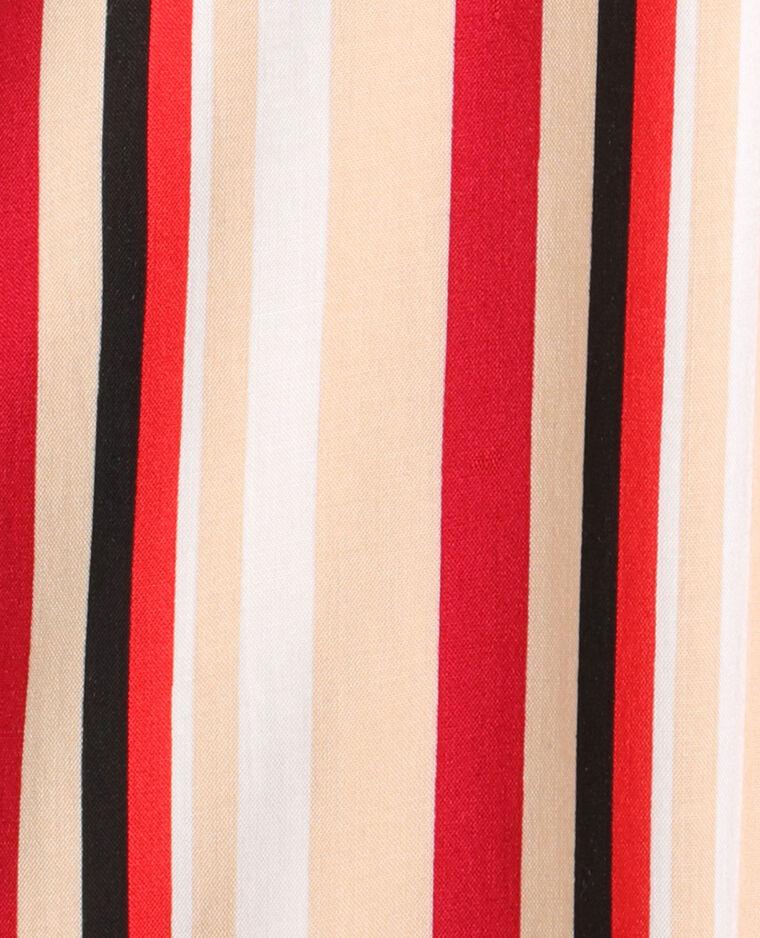 Camicia a righe bianco e rosso