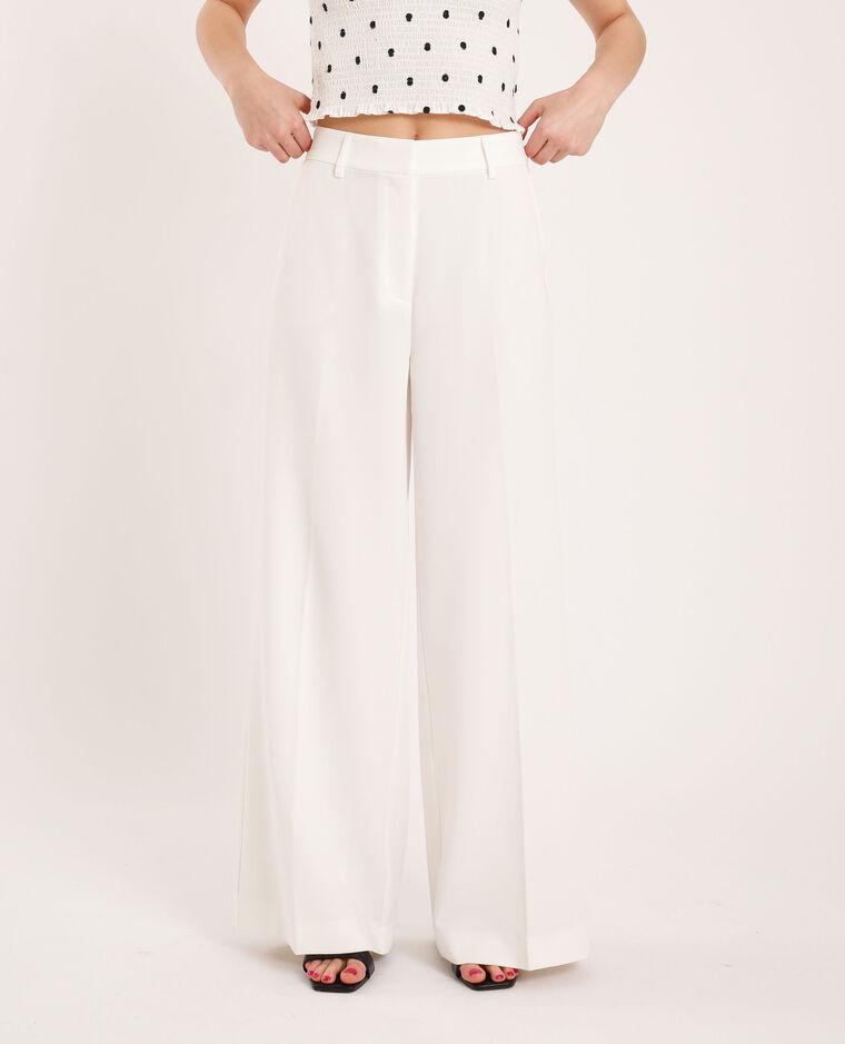 Pantalone a gamba larga bianco