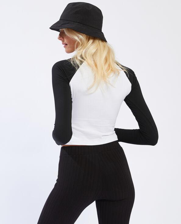T-shirt a maniche lunghe nero - Pimkie