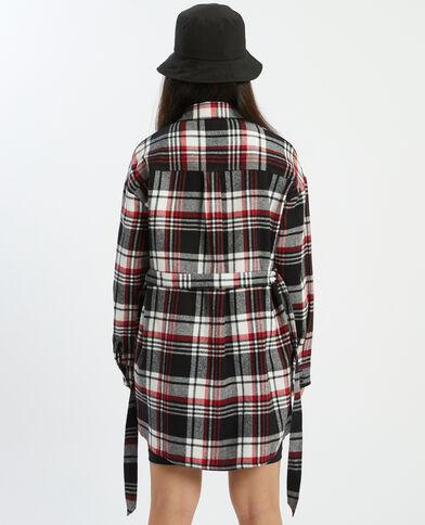 Camicia lunga a quadri nero - Pimkie