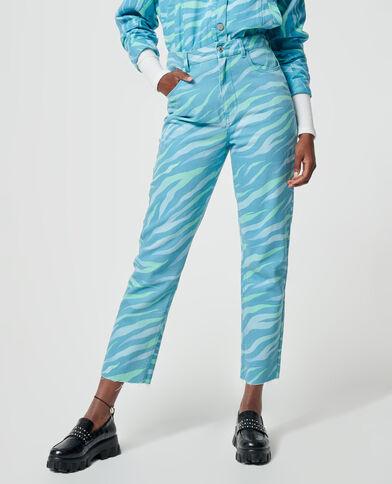 Jeans dritto zebrato verde - Pimkie