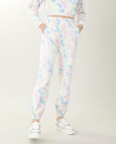 Pantalone da jogging tie and dye blu petrolio - Pimkie