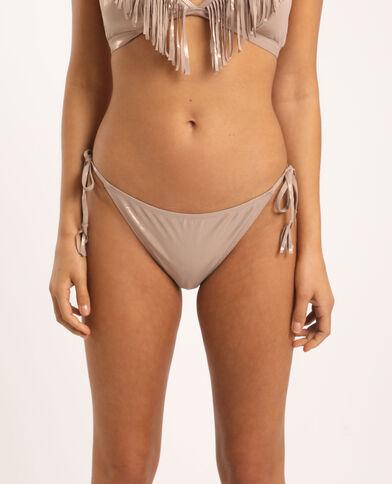 Pezzo sotto di bikini sgambato argento