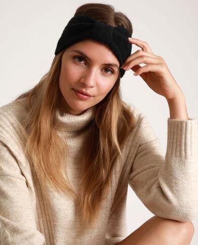 Headband con fiocco nero