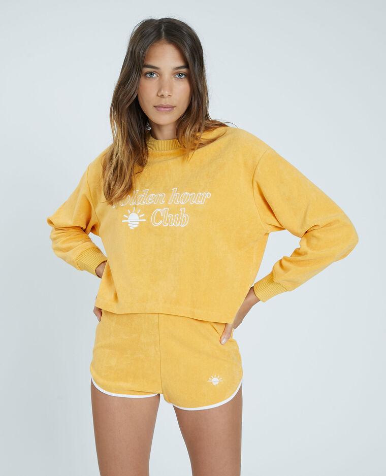 Felpa in spugna giallo - Pimkie