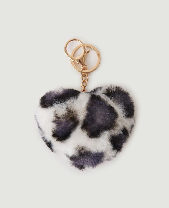 Portachiavi cuore leopardato morbidissimo beige - Pimkie