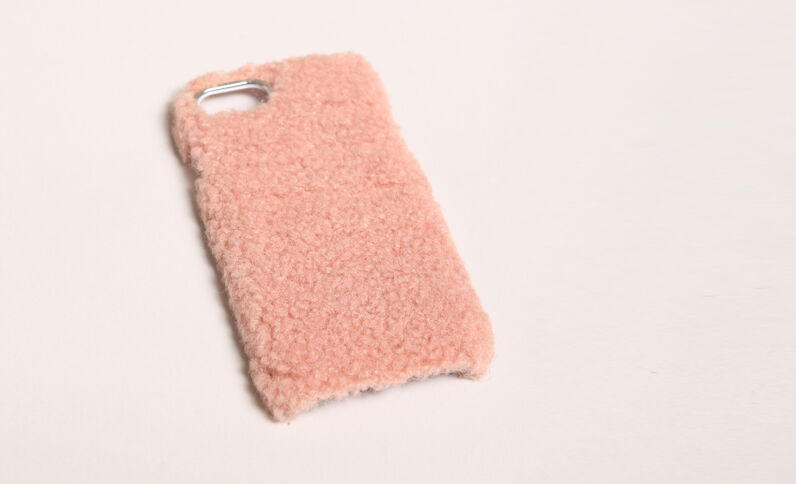 - Custodia iPhone pelliccia Rosa