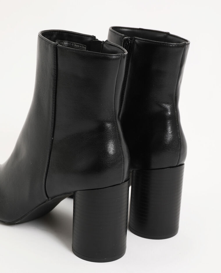 Boots con tacco nero