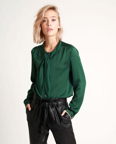 Camicia con fiocco verde