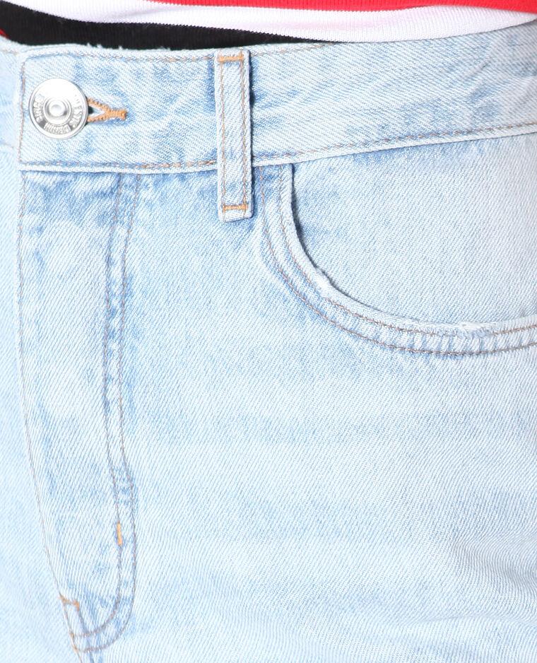 Jeans dritto a vita alta blu