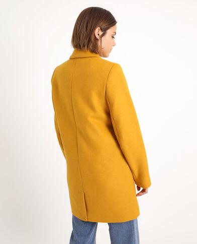 Cappotto in panno di lana giallo