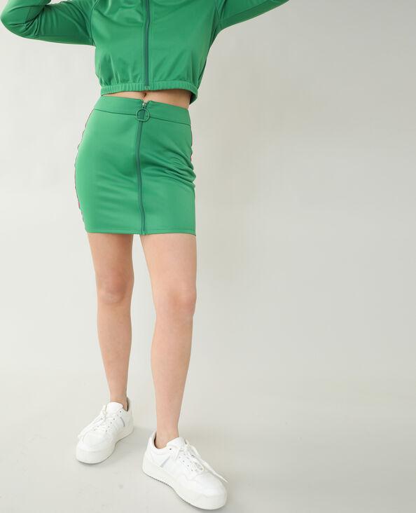 Gonna d'ispirazione jogging verde