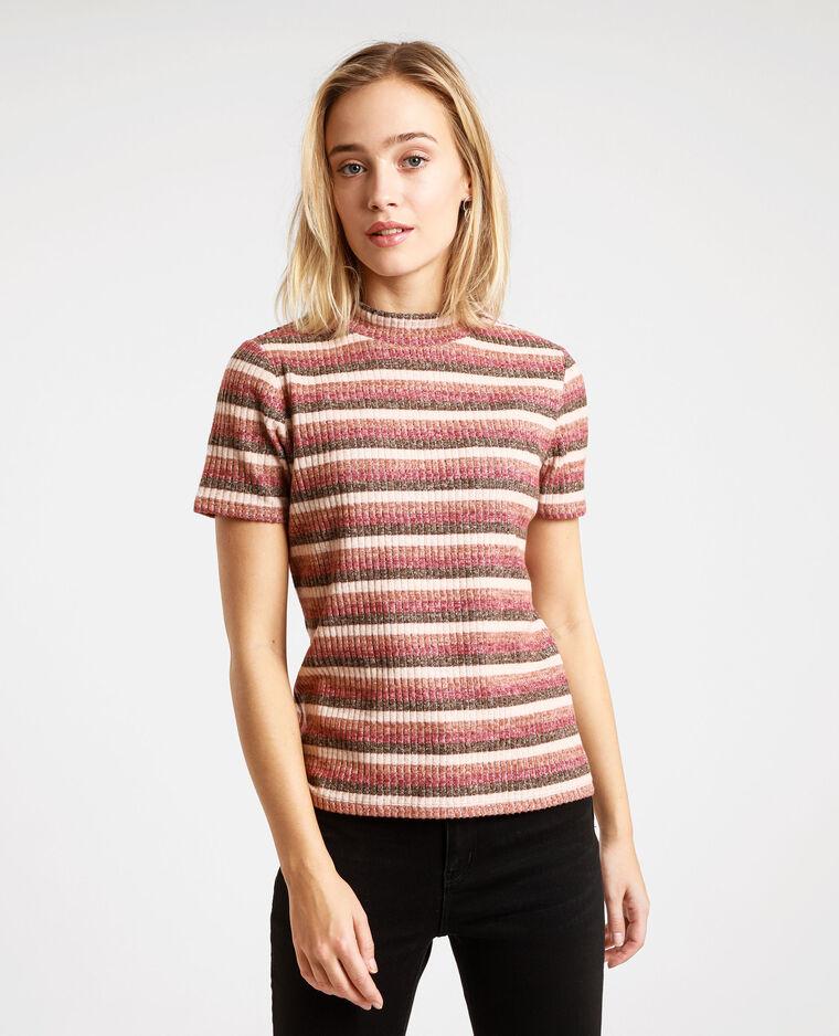 T-shirt a righe marrone - Pimkie