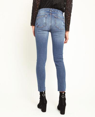 Jeans skinny destroy blu scuro