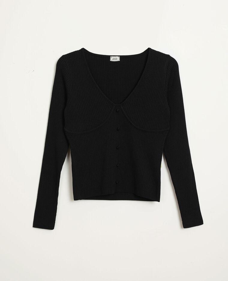 Top in maglia nero - Pimkie