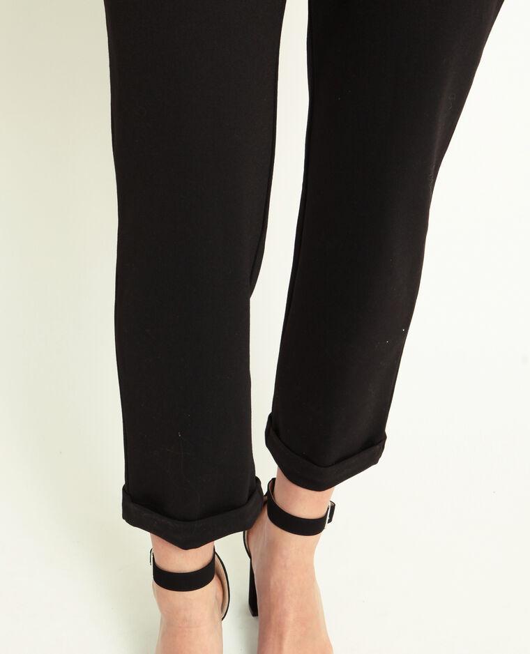 Abito pantalone maniche corte nero