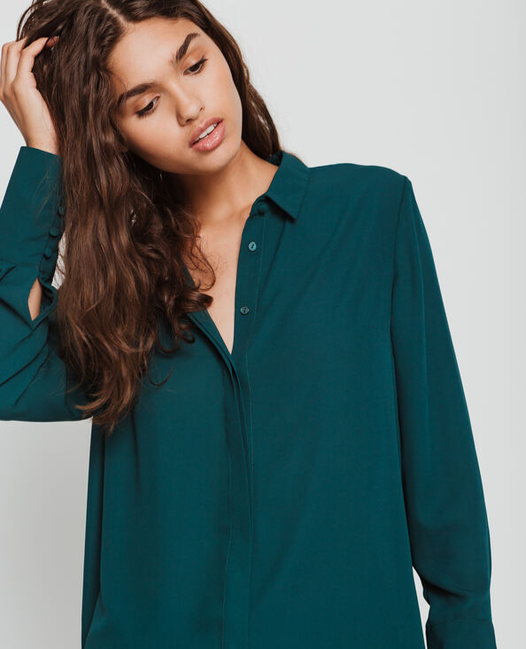 Camicia morbida verde