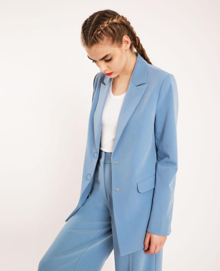 Blazer oversize blu cielo
