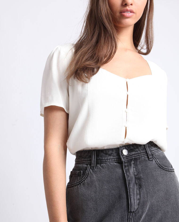Body camicia bianco sporco