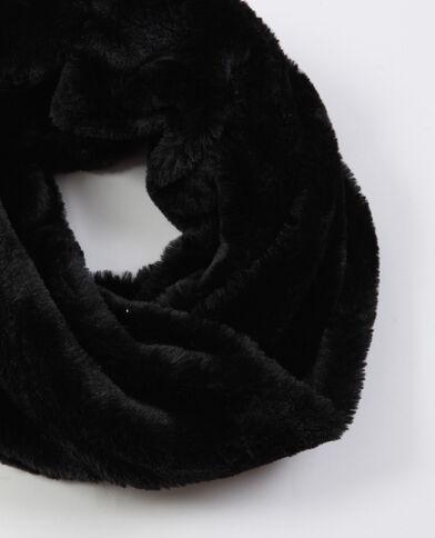 Collo in pelliccia ecologica nero