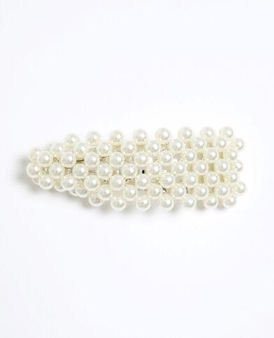 Pinza con perle bianco