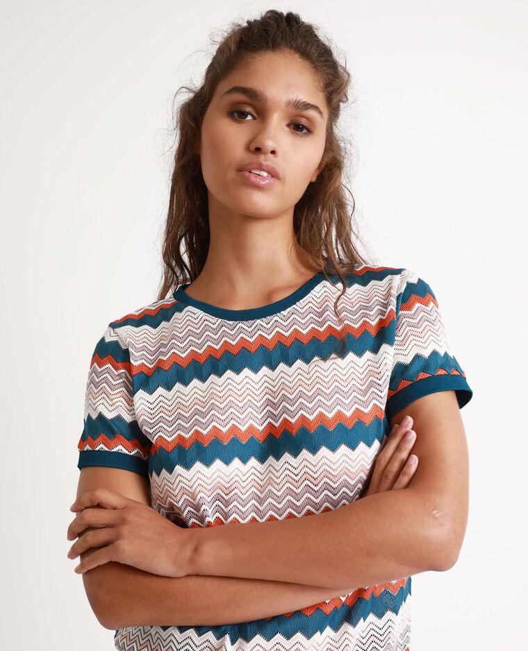 T-shirt multicolore blu-verde