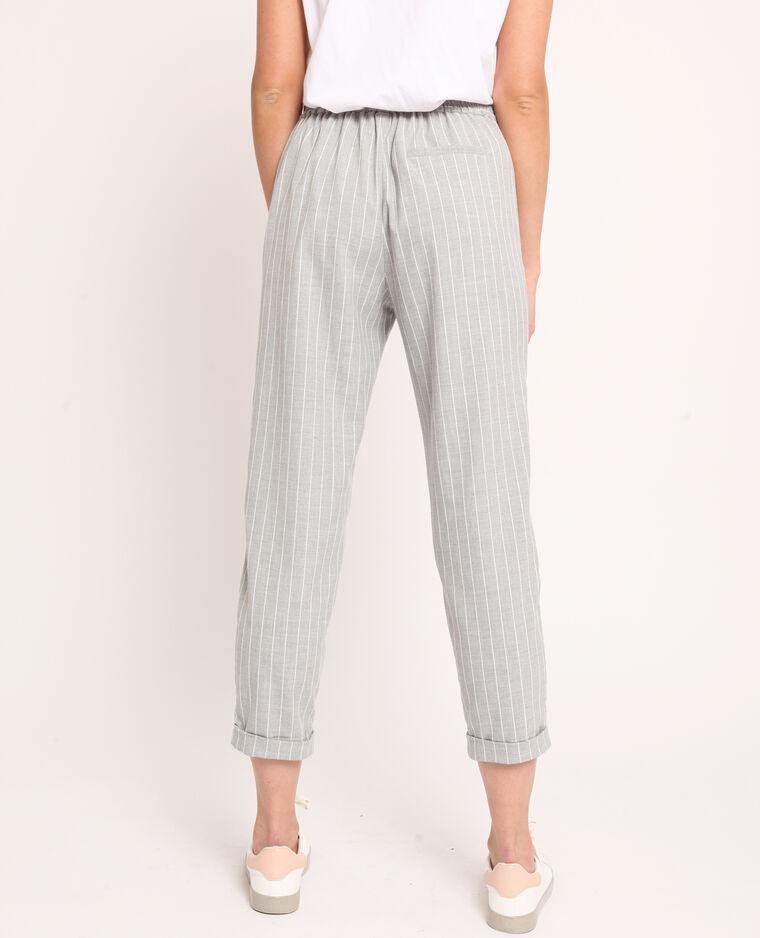 Pantalone city a righe grigio chiné
